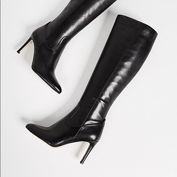 9dde7e69f1b Sam Edelman Olencia Knee High Black Leather Boots.  M 5a4484c53afbbd1da20c1053